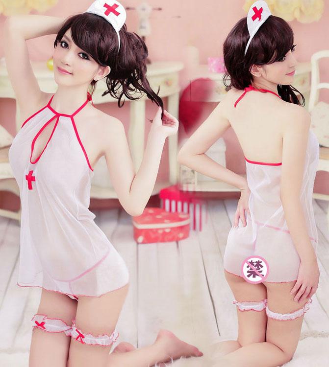 セクシーランジェリー制服の誘惑女性ゆったり透明な下着