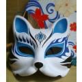 狐のお面(きつねのおめん)/マスク/仮面 和風手作り コスプレ道具小物