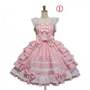 在庫 ロリータ ワンピース 日本風 スカート コスプレドレス