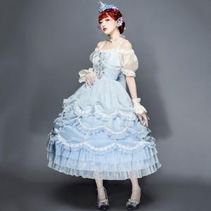 人魚姫 洋装 チュールドレス ワンピース 甘ロリ